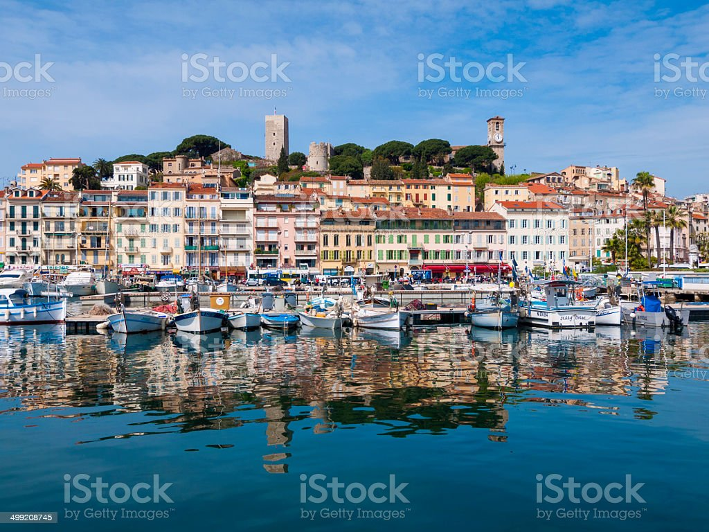 Cannes Waterfront stock photo