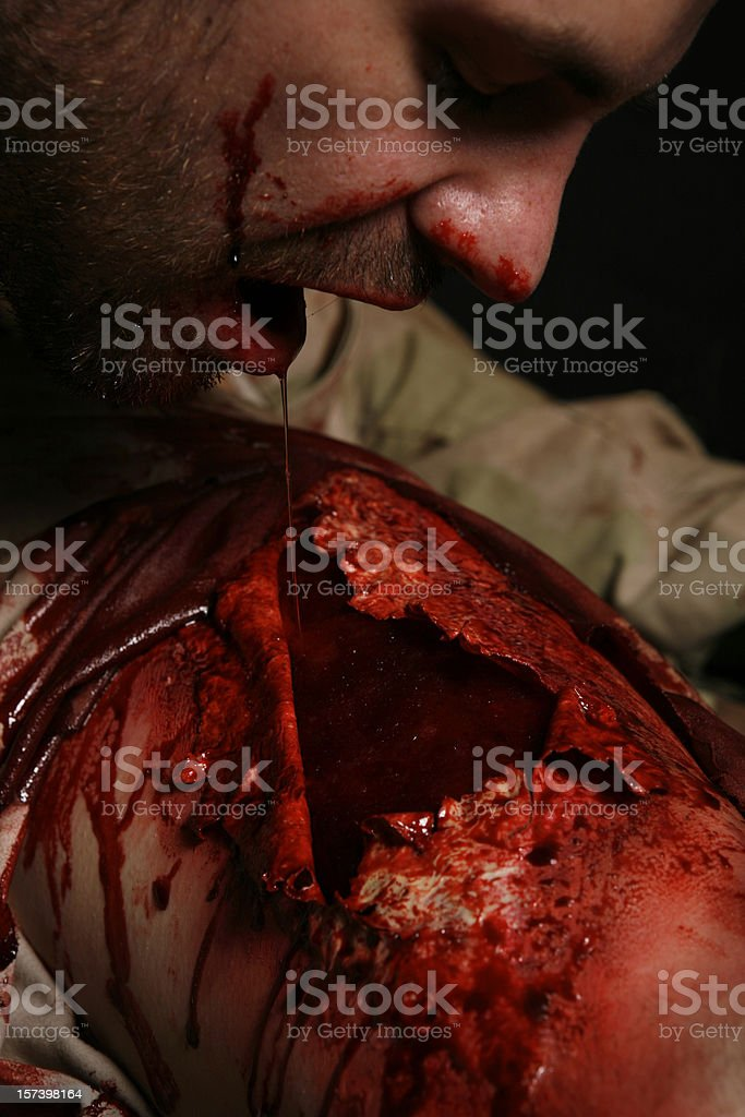 Cannibalism the Second Course stock photo