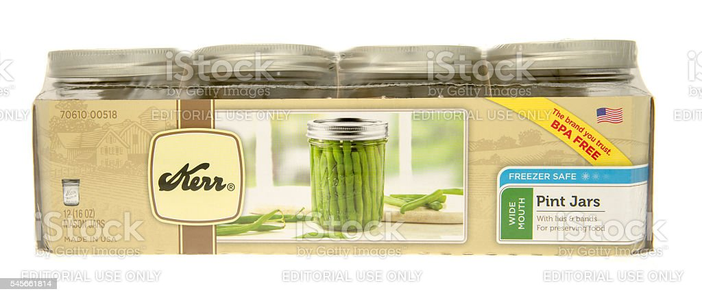 Canning Jars stock photo