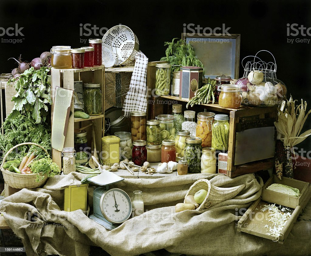 Canning Scene royalty-free stock photo
