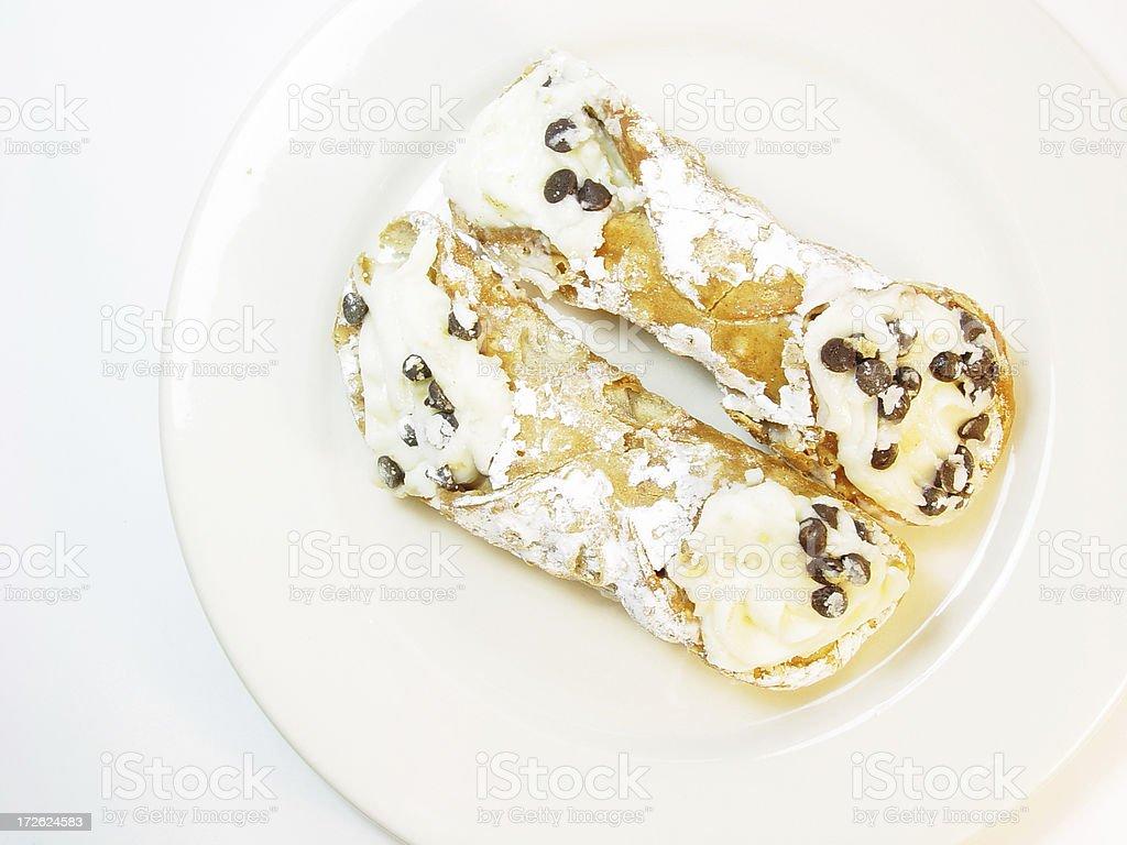 Cannoli Dessert royalty-free stock photo