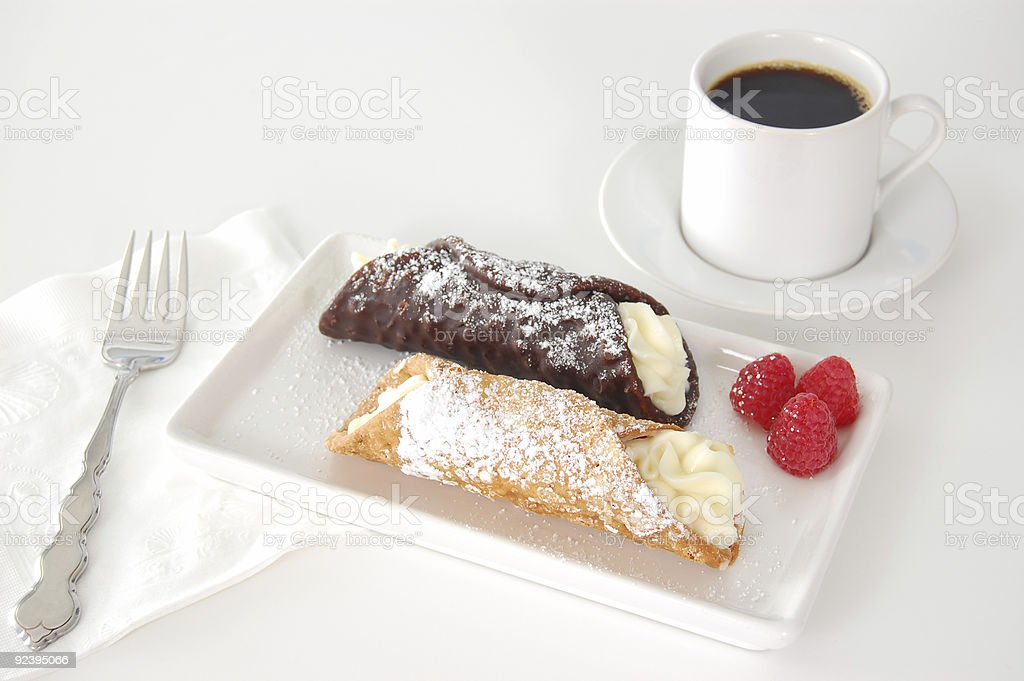 Cannoli royalty-free stock photo