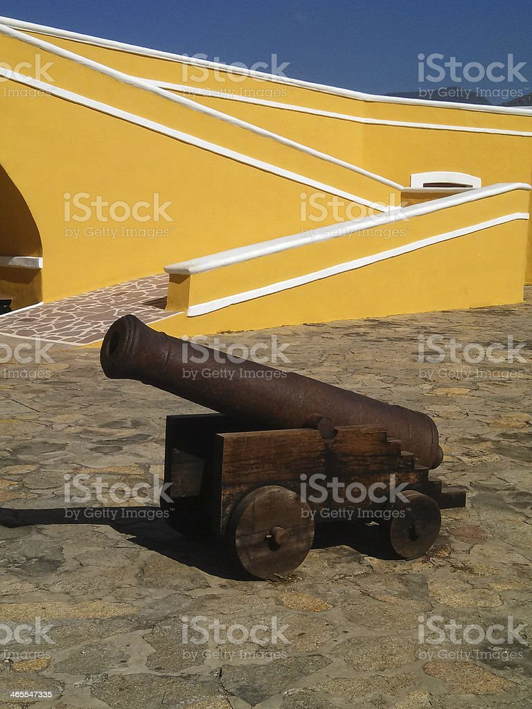 Cannon and walls Fort San Diego Acapulco Mexico stock photo