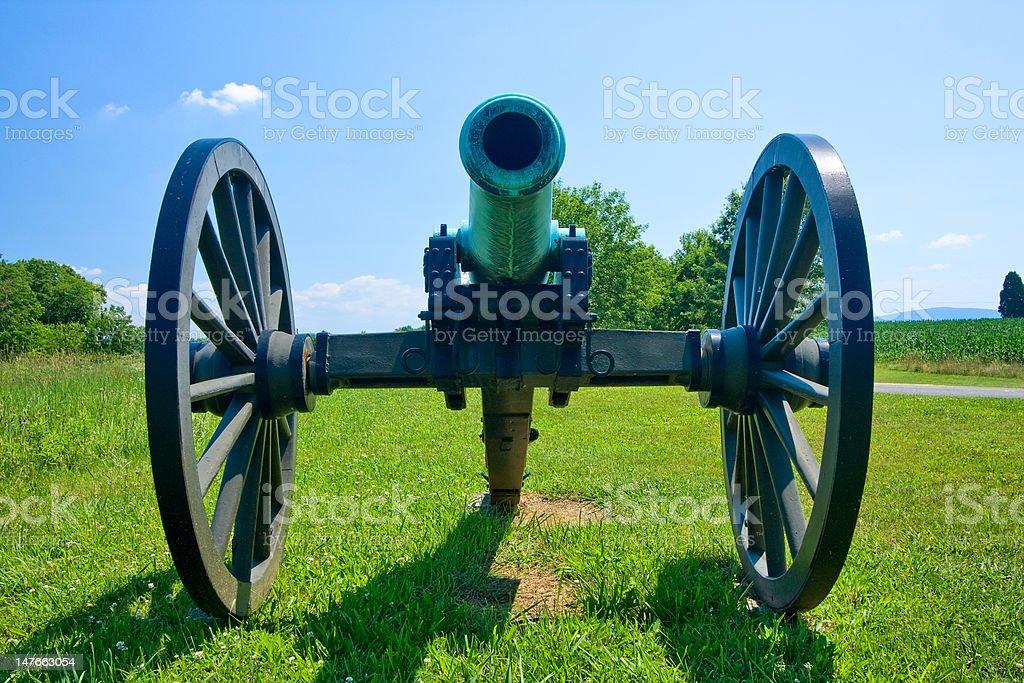 Cannon, Antietam Battlefield stock photo