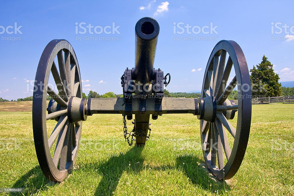 Cannon at Antietam Battlefield stock photo