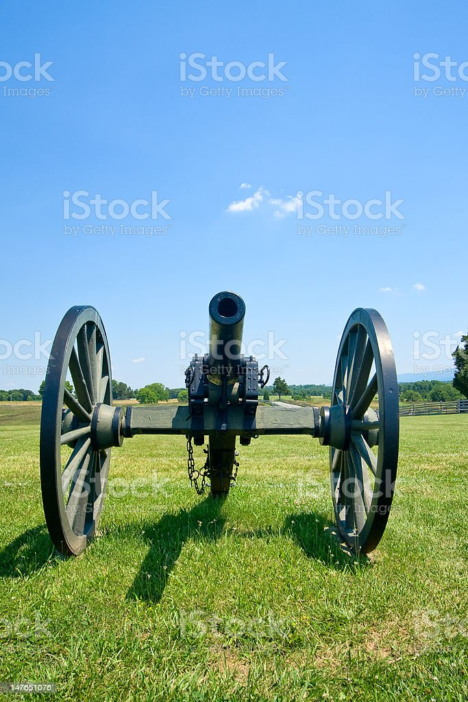 Cannon at Antietam stock photo