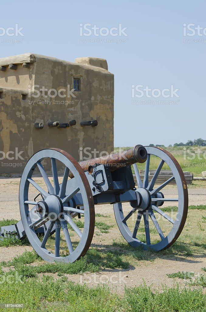 Cannon at Bent's Old Fort National Historic Site stock photo