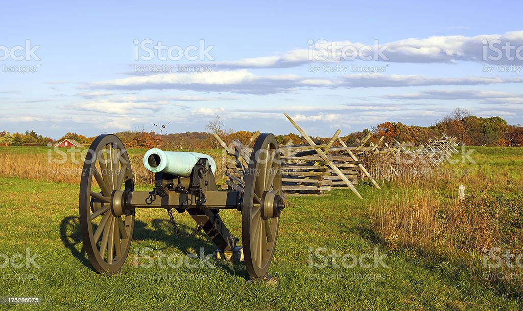 Cannon at Gettysburg stock photo