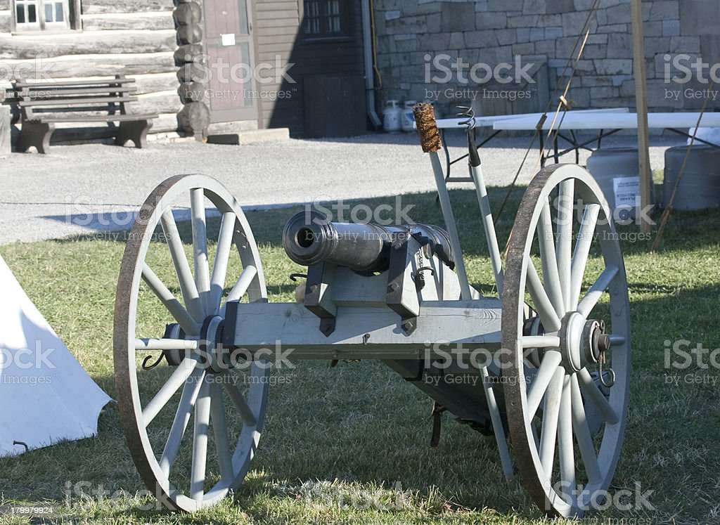 Cannon At Old Fort Niagara royalty-free stock photo