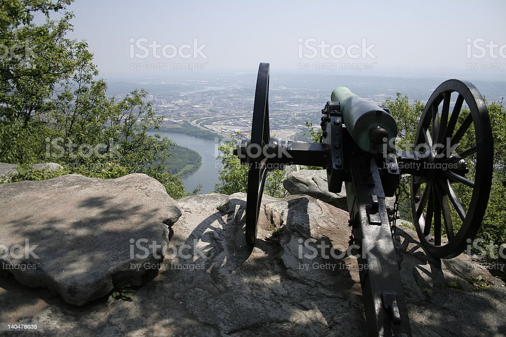 Cannon at Point Park Lookout Mountain stock photo