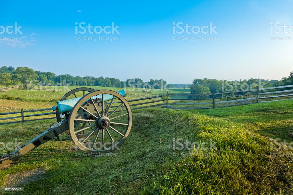 Cannon at the Gettysburg National Military Park stock photo