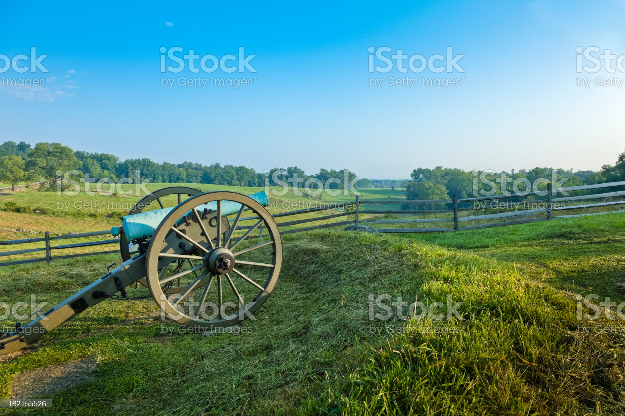 Cannon at the Gettysburg National Military Park royalty-free stock photo