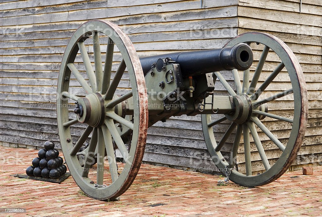 Cannon at the Ready royalty-free stock photo