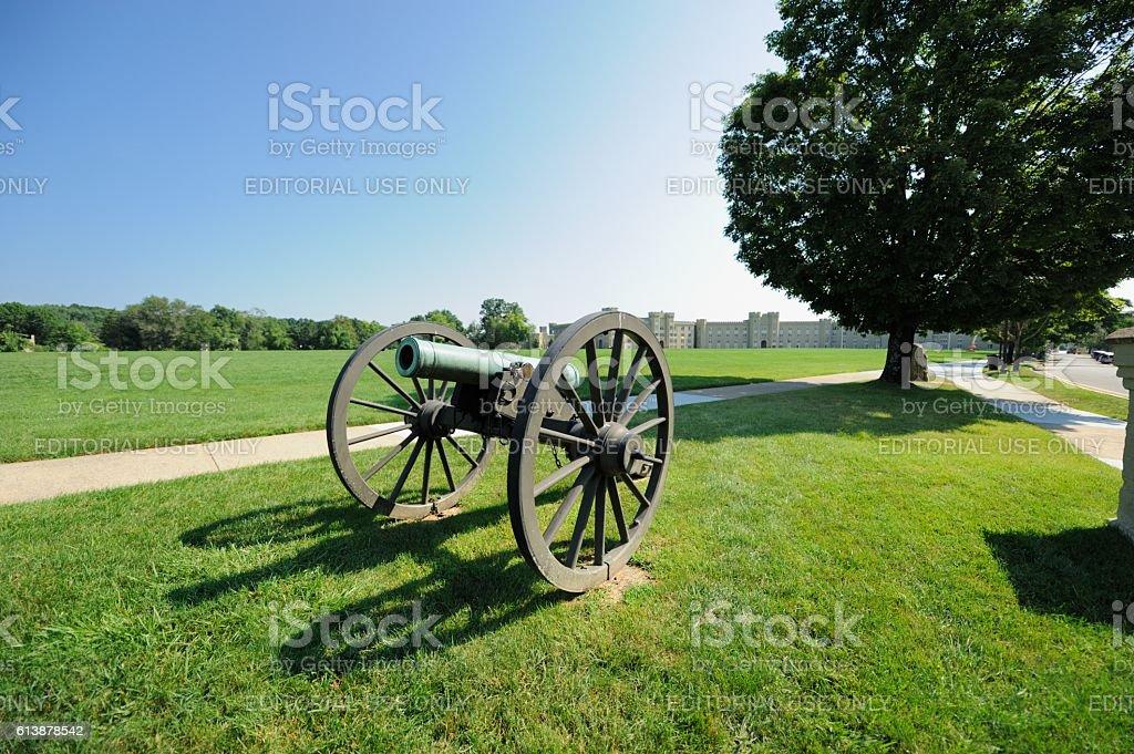 Cannon at Virginia Military Institute stock photo