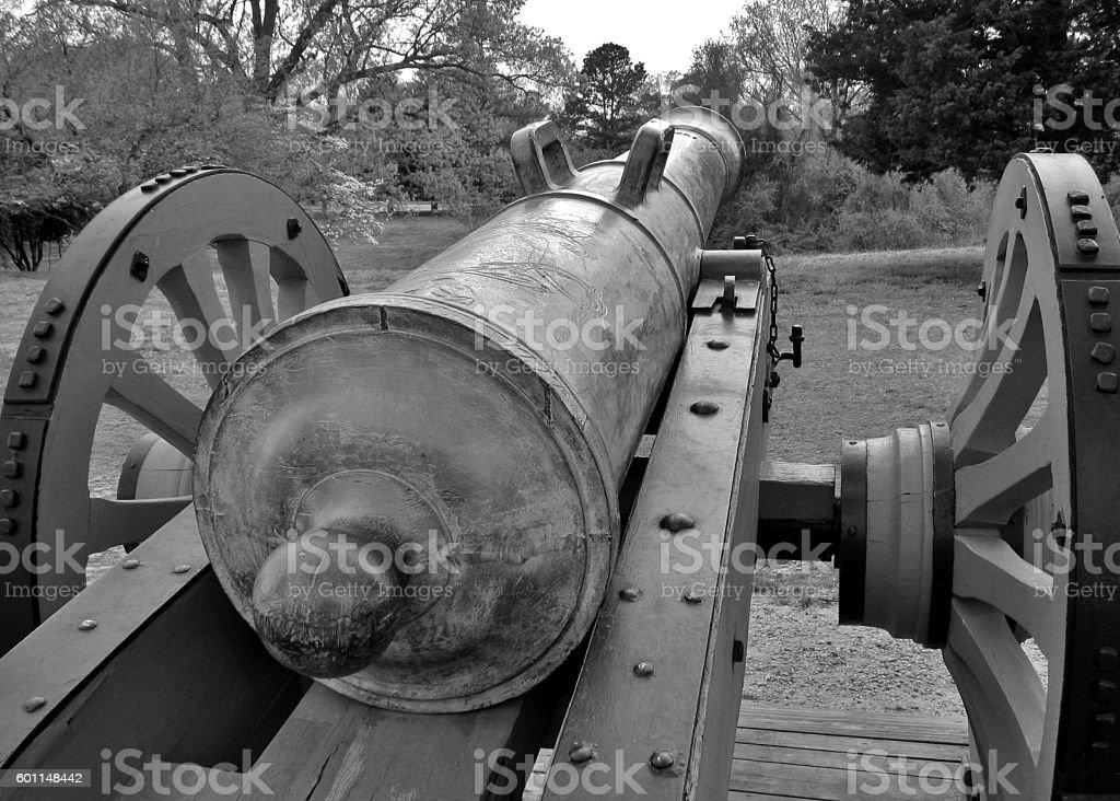 Cannon at Yorktown stock photo