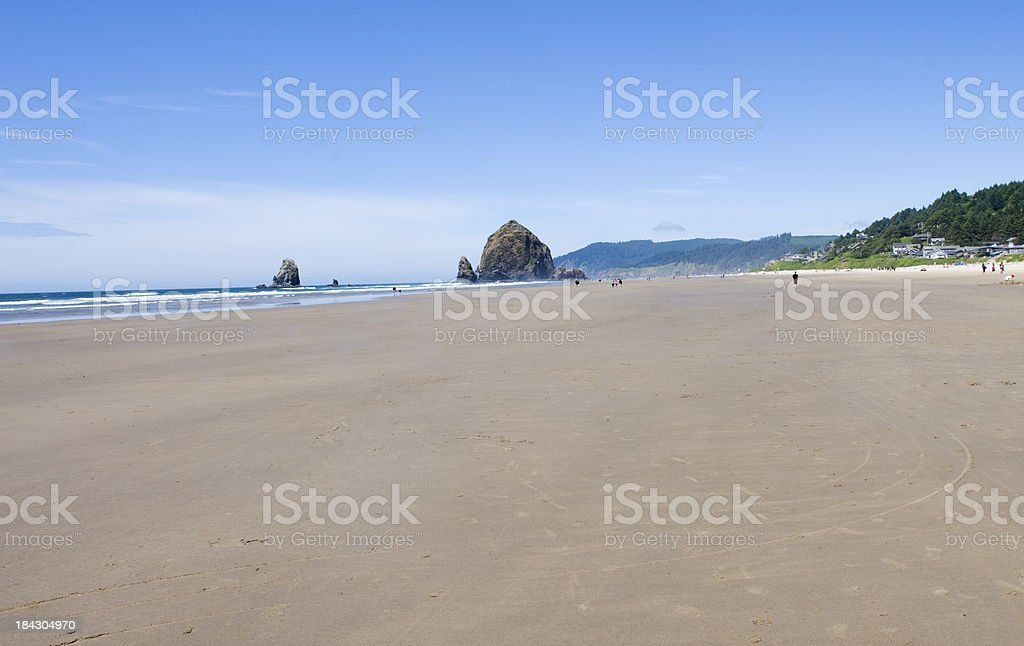 Cannon Beach and Haystack Rock stock photo