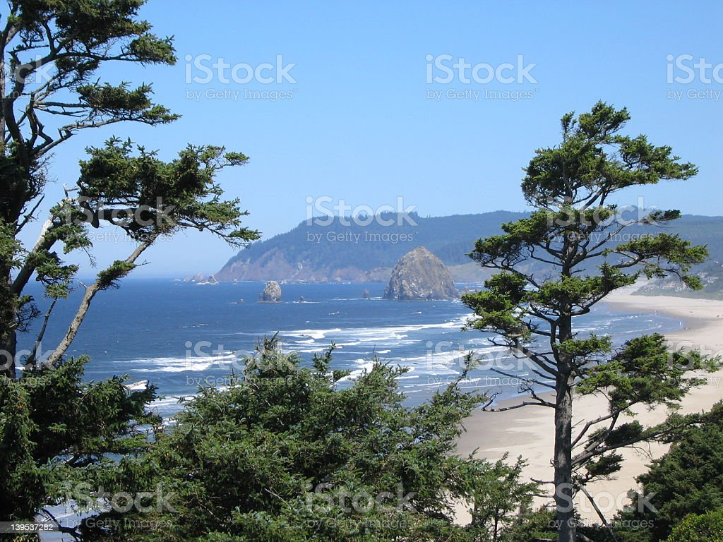 Cannon Beach landscape royalty-free stock photo