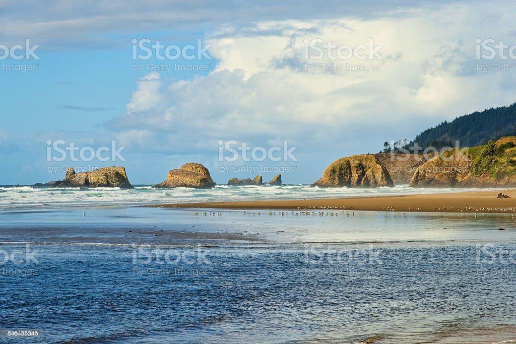 Cannon Beach Oregon foto de stock libre de derechos