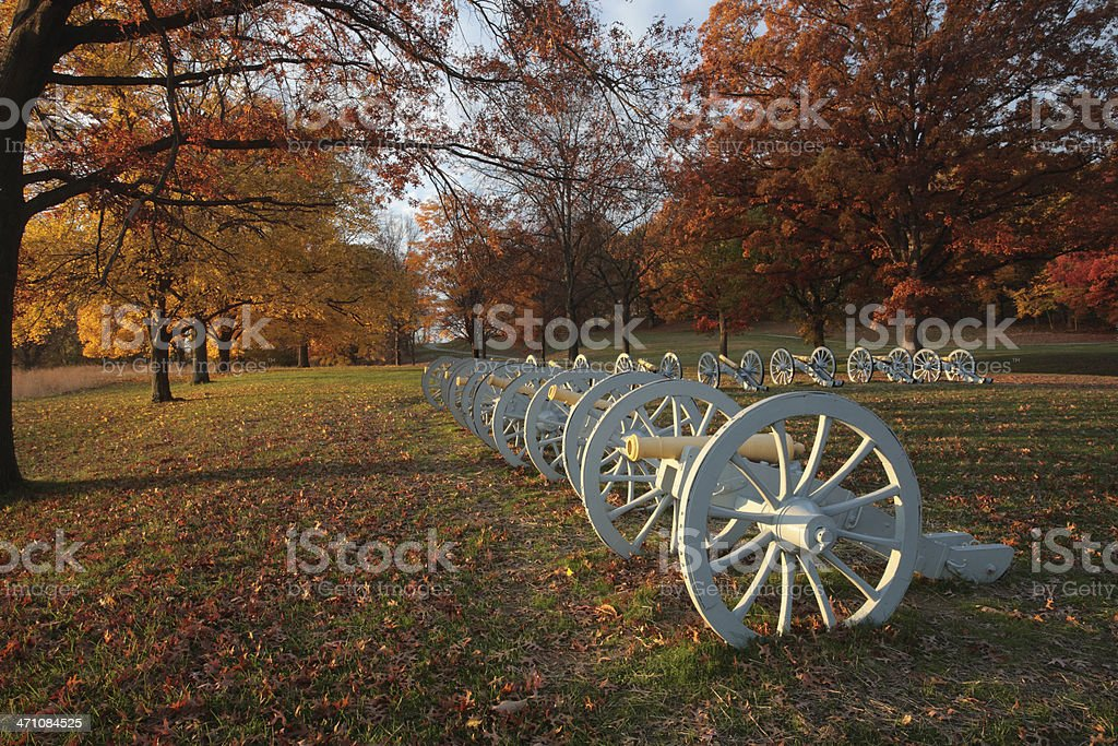 Cannon display stock photo