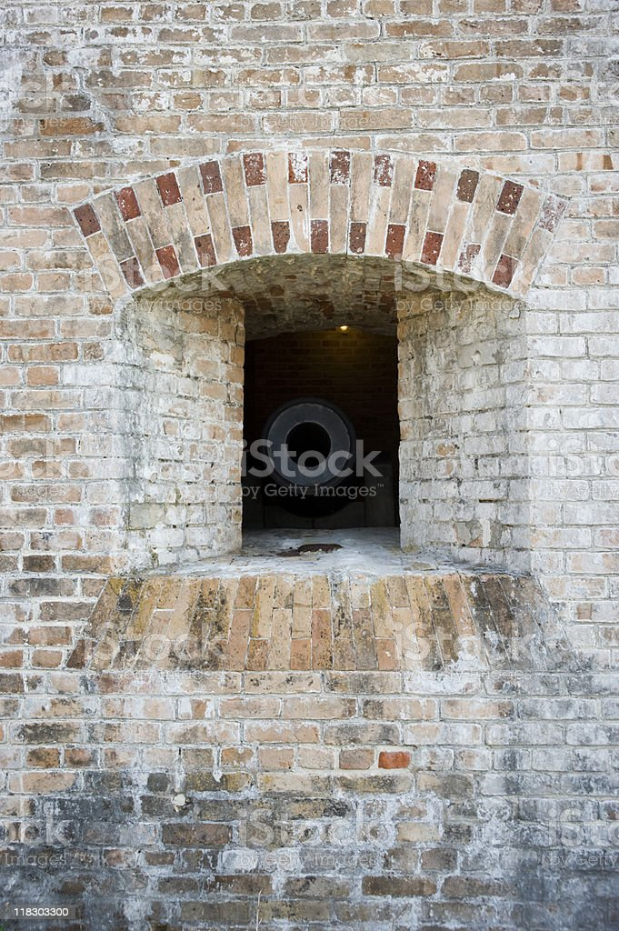 Cannon Embrasure Front stock photo