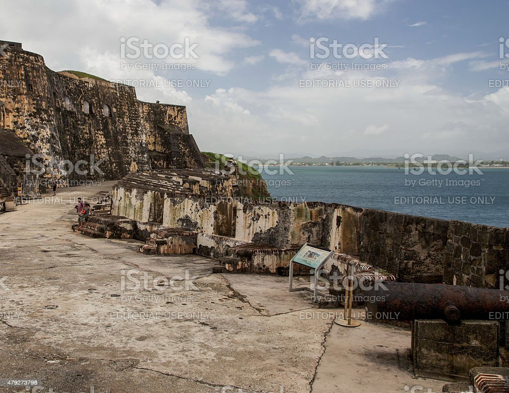 Cannon Emplacement at the Fort stock photo
