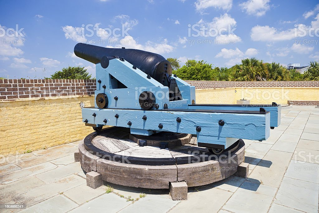 Cannon From Fort Moultrie, South Carolina stock photo