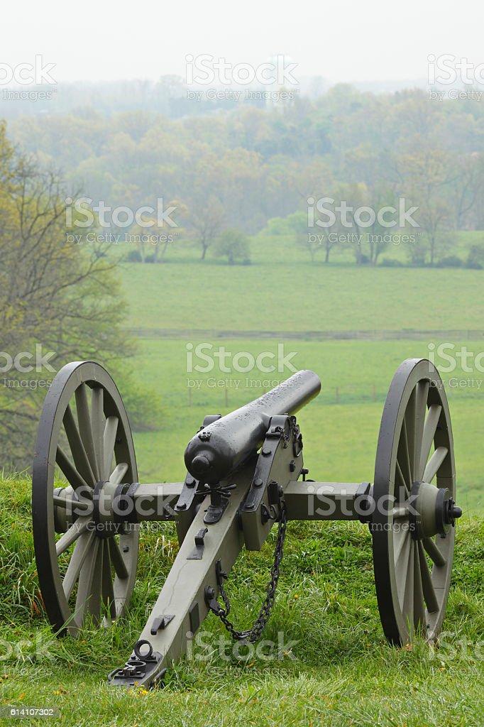 Cannon - Gettysburg stock photo