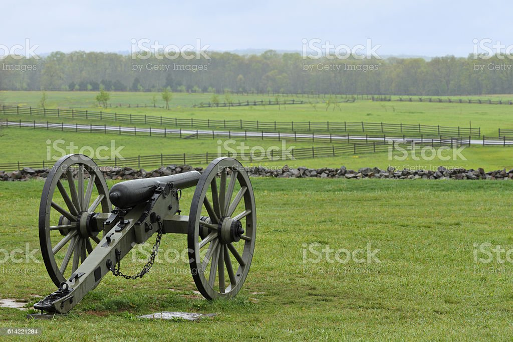 Cannon - Gettysburg stock photo