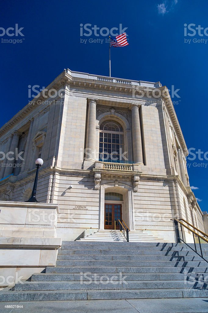 Cannon House Office Building in Washington DC stock photo