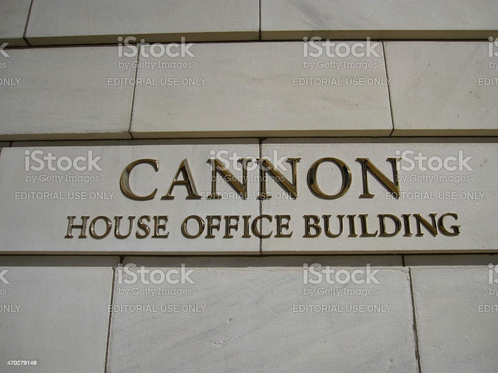 Cannon House Office Building signage stock photo