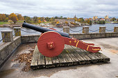 Cannon in Old Fredrikstad, Østfold County Norway