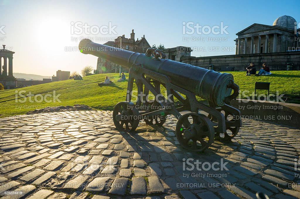 Cannon in Regent Gardens stock photo