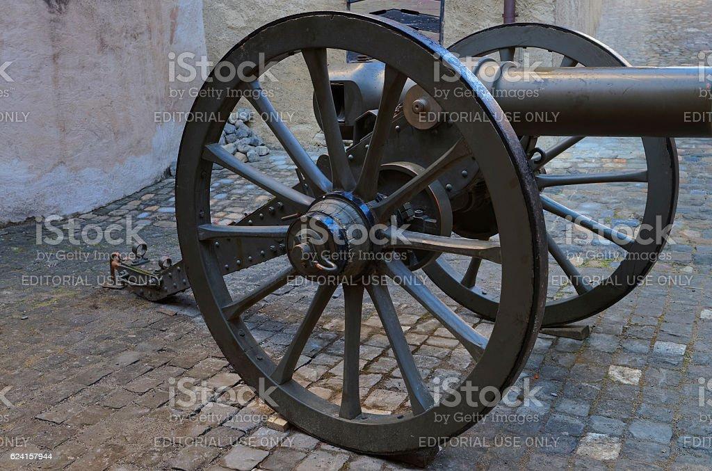 Cannon in the street in Thun, Switzerland stock photo
