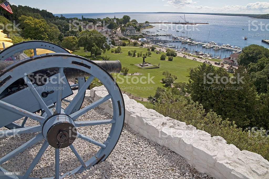 Cannon look out! stock photo