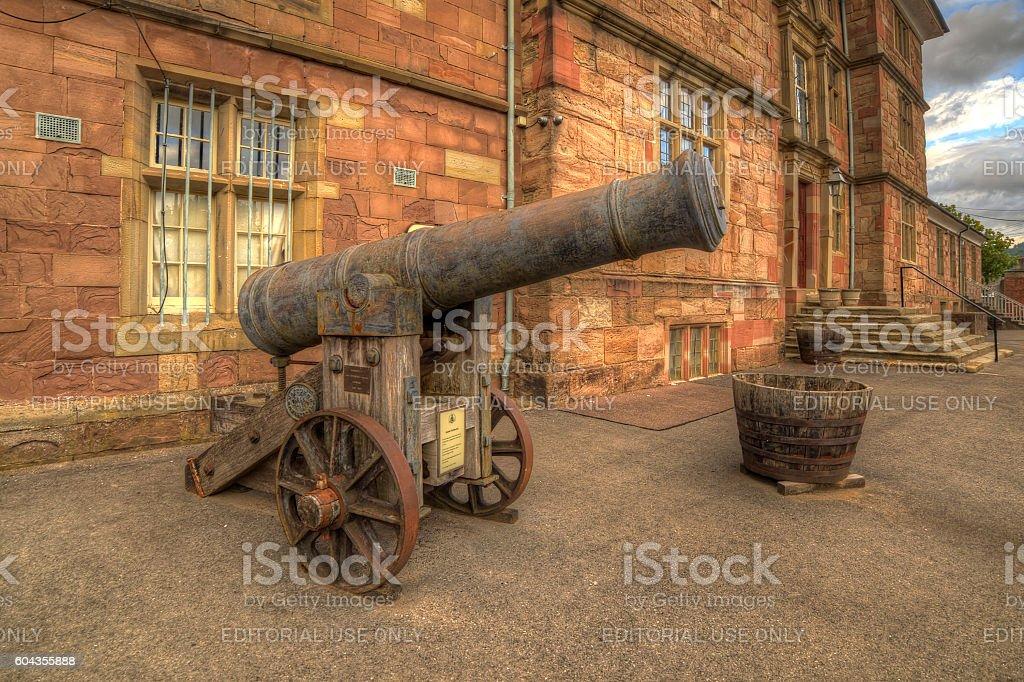 Cannon monmouth castle stock photo