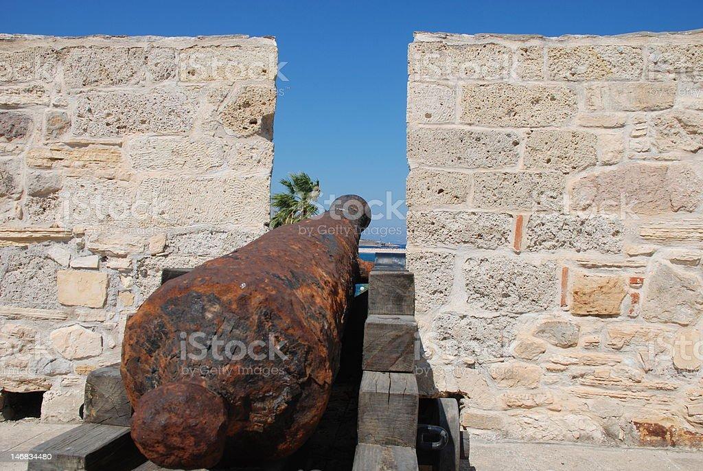 Kanone auf castle Lizenzfreies stock-foto