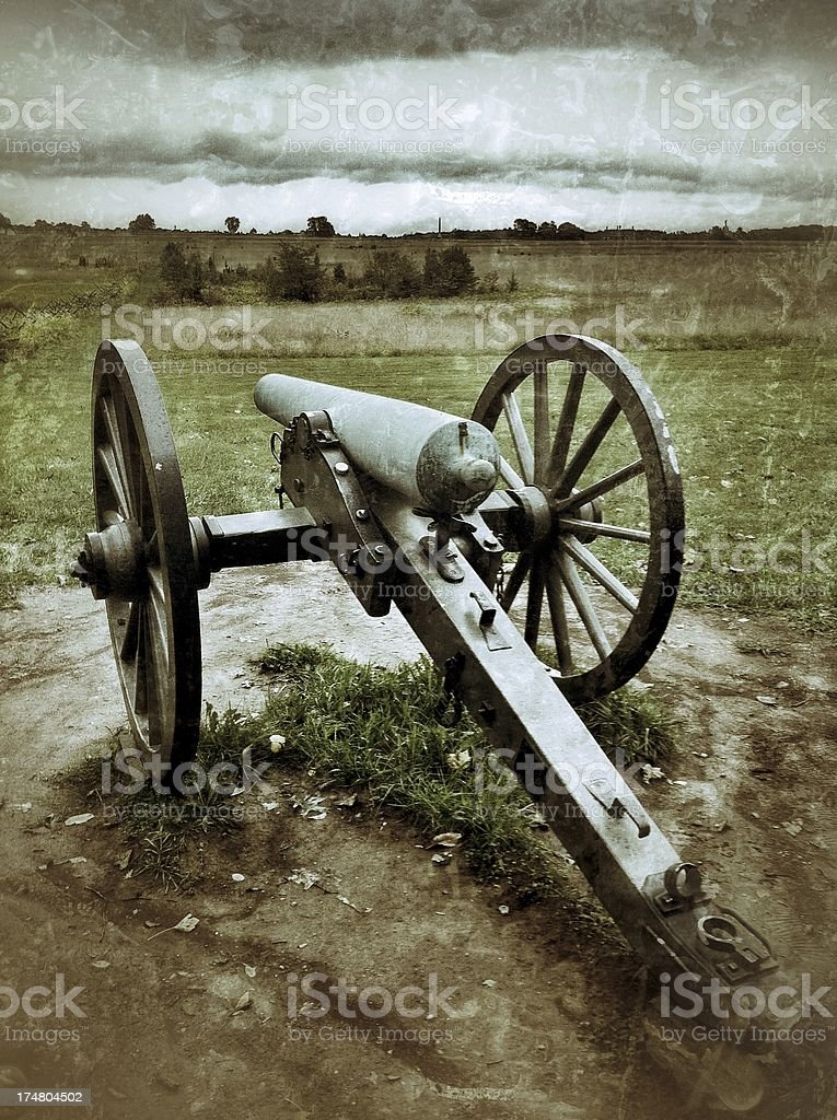 Cannon on Gettysburg Battlefield royalty-free stock photo