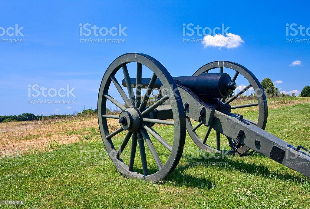 Cannon overlooks Antietam Battlefield stock photo