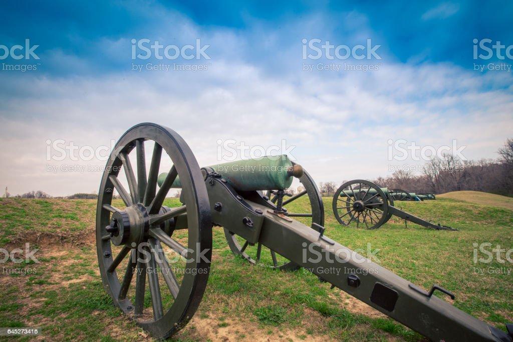 cannon Vicksburg Mississippi stock photo