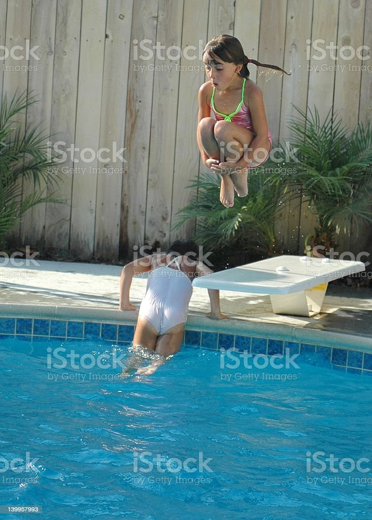 Cannonball Girl stock photo