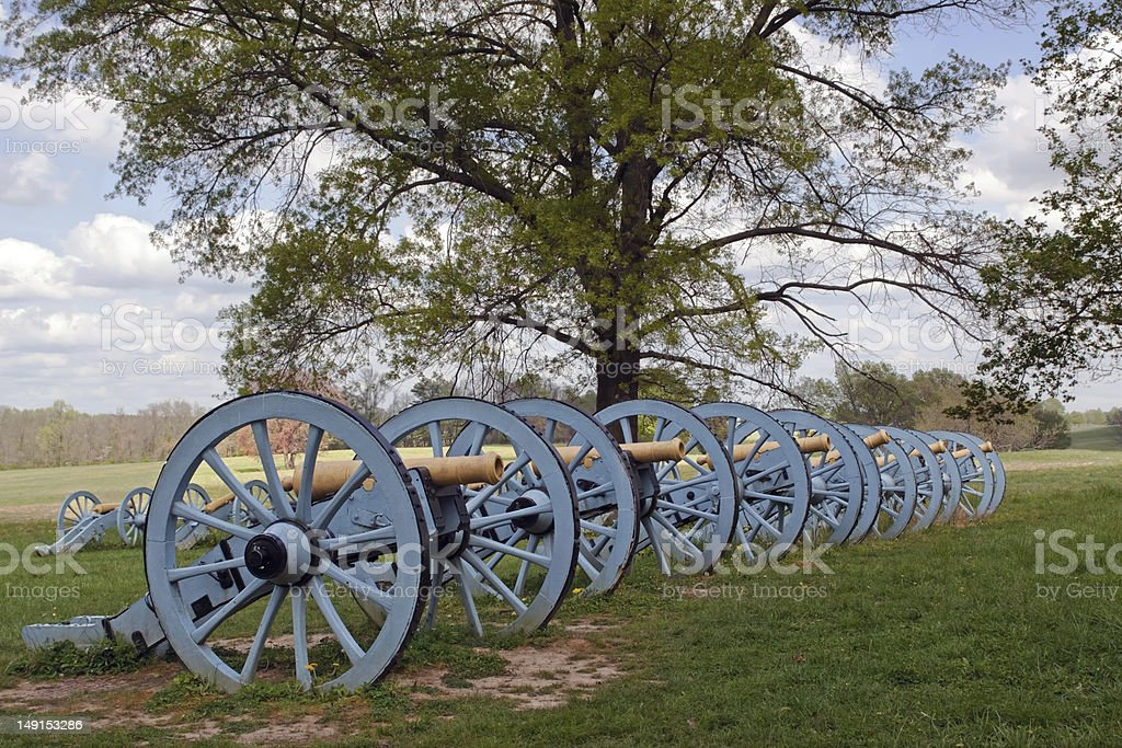 Cannons at Valley Forge stock photo