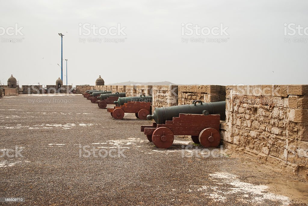 Cannons in the fortress of Essaouira stock photo