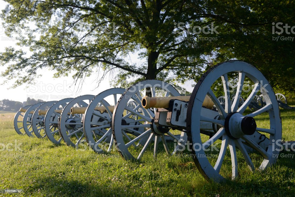 Cannons in Valley Forge National Park stock photo