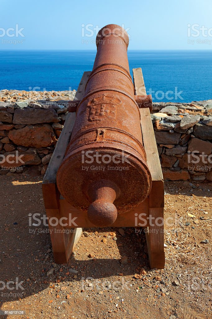 Cannons on Preguica, Sao Nicolau island, Cape Verde stock photo