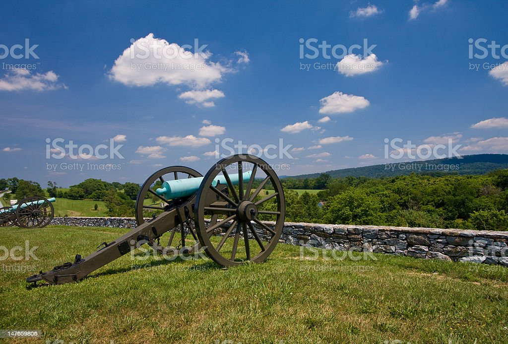 Cannons Overlooking Antietam royalty-free stock photo