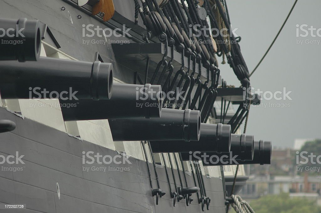 Cannons royalty-free stock photo
