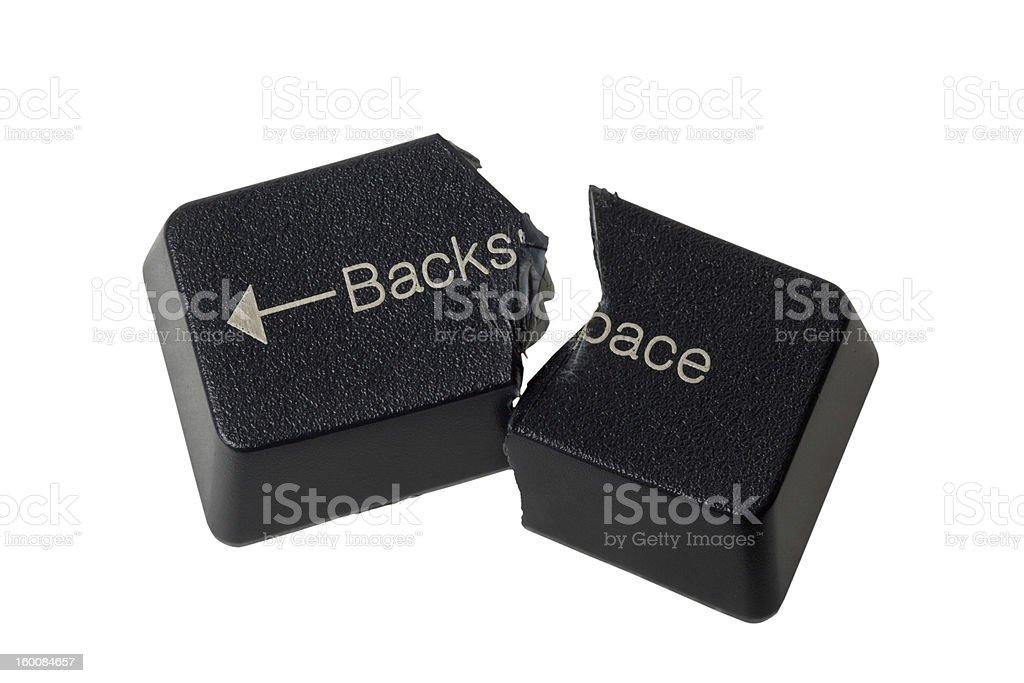 Cannot backspace stock photo