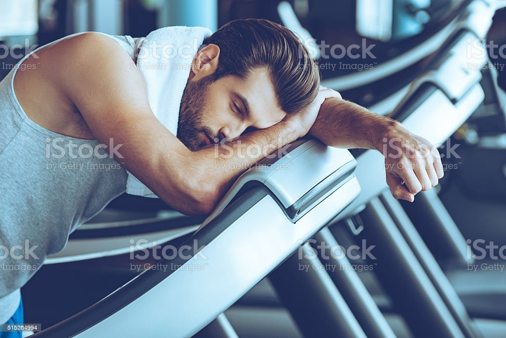 Cannot run anymore. stock photo