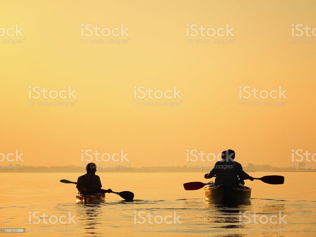 Canoe and Kayak royalty-free stock photo