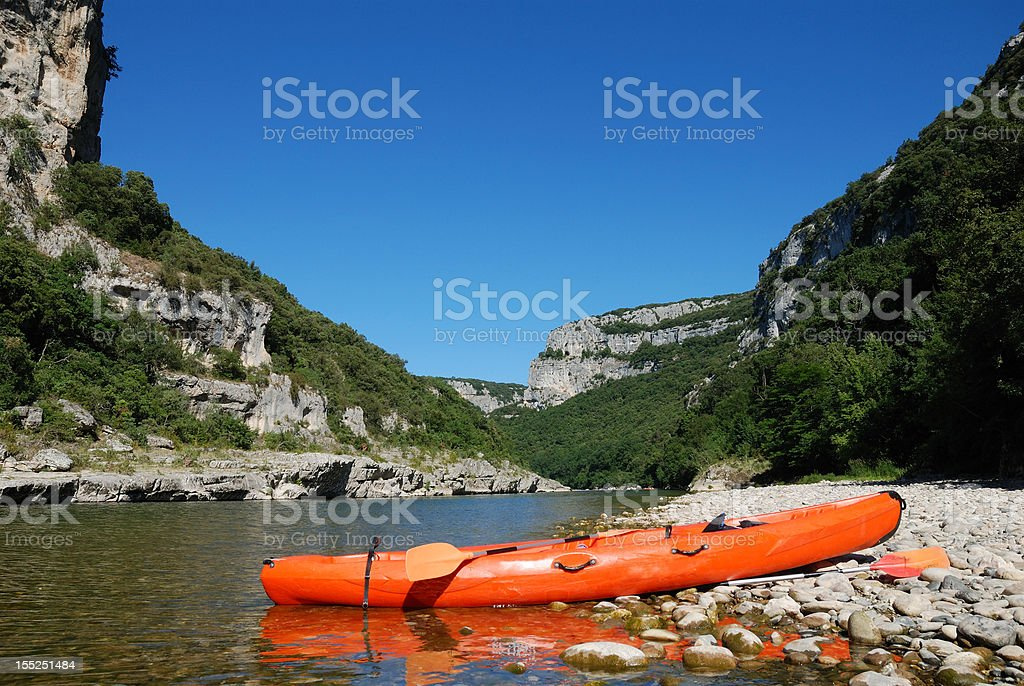 canoe - Ardèche royalty-free stock photo